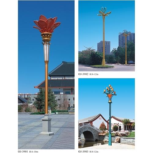 太阳能高杆路灯的施工安装原则
